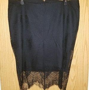 Black lace Torrid pencil skirt